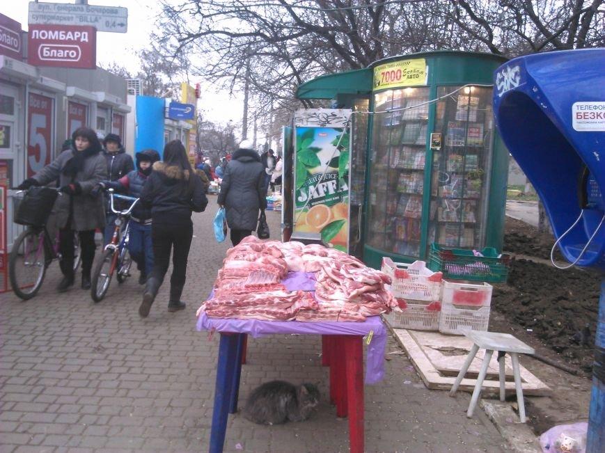 Мясо с асфальта: одесская милиция оказалась беспомощной перед стихийной торговлей (ФОТО), фото-1