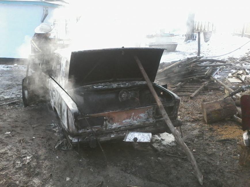 В Кировоградской области горел автомобиль (фото), фото-1