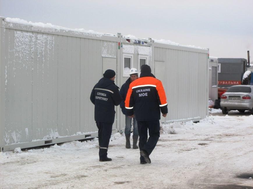 В Запорожье спасатели проинспектировали строительство мобильного городка для переселенцев (ФОТО) (фото) - фото 2