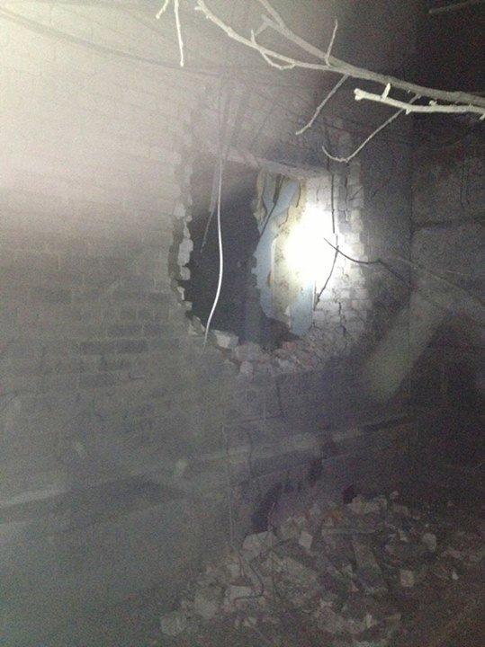 В Авдеевке снаряд попал в городское отделение милиции (фото) - фото 1