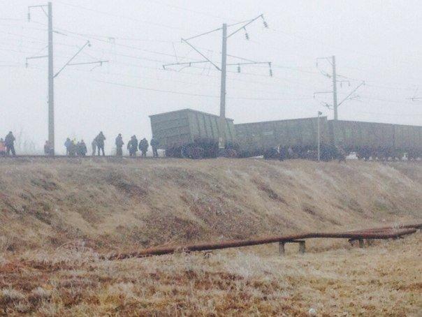 В Кировоградской области сошли с рельсов грузовые вагоны (фото), фото-1
