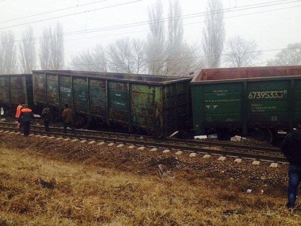 В Кировоградской области сошли с рельсов грузовые вагоны (фото), фото-2
