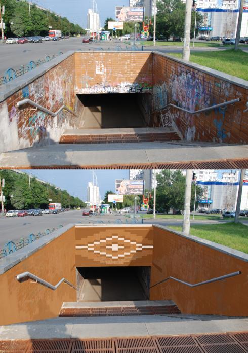 Киевлянин решил преобразить подземный переход на Минском массиве (фото) - фото 1