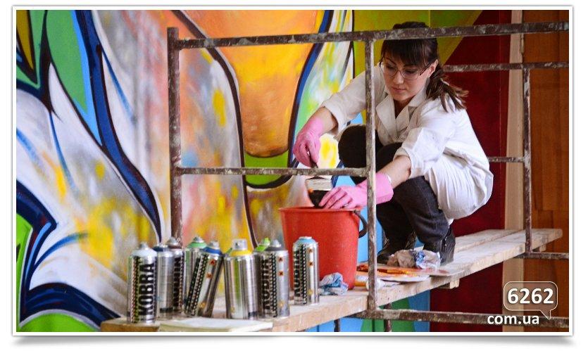 Арт-мобилизация, начата роспись школы искусств (фотофакт). (фото) - фото 4