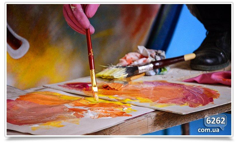 Арт-мобилизация, начата роспись школы искусств (фотофакт). (фото) - фото 7