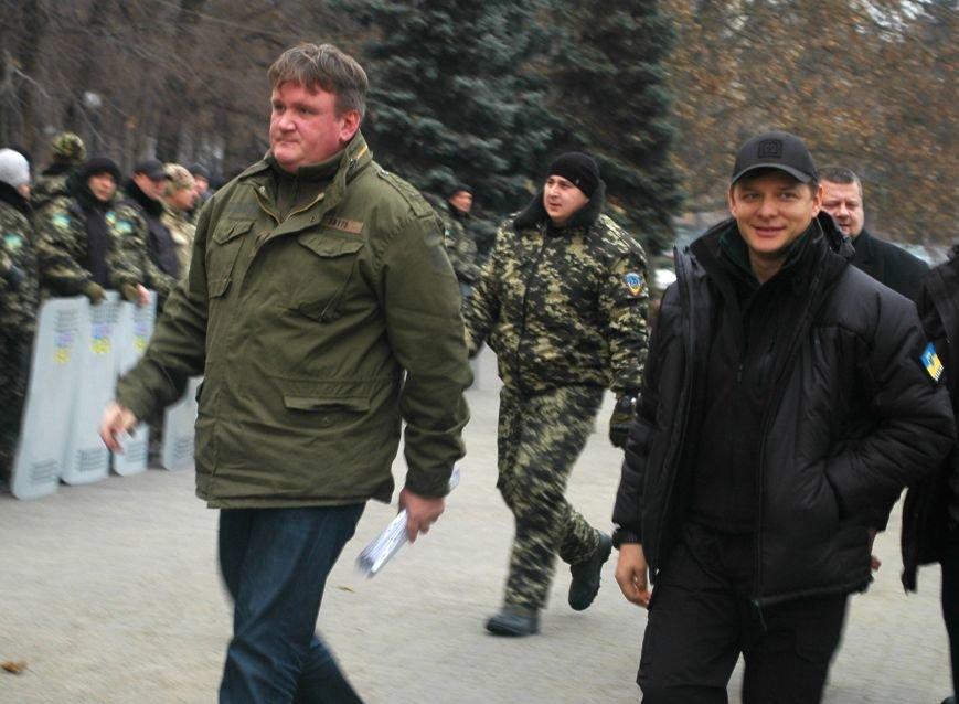 На митинг под Запорожскую мэрию приехал Ляшко (ФОТО), фото-2