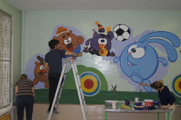 Юные художники украшают детские сады Волгограда радугой, фото-2