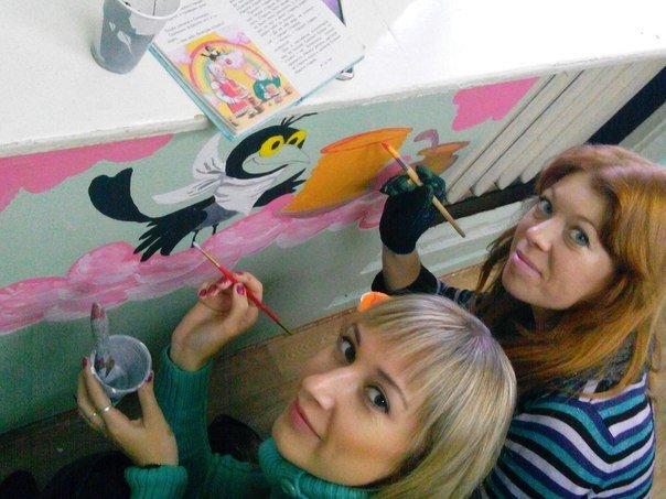 Юные художники украшают детские сады Волгограда радугой (фото) - фото 1