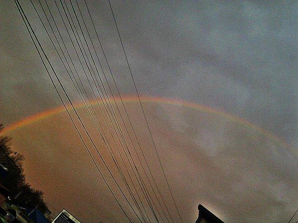 Утром природа порадовала симферопольцев красивой радугой (ФОТО, ВИДЕО) (фото) - фото 2