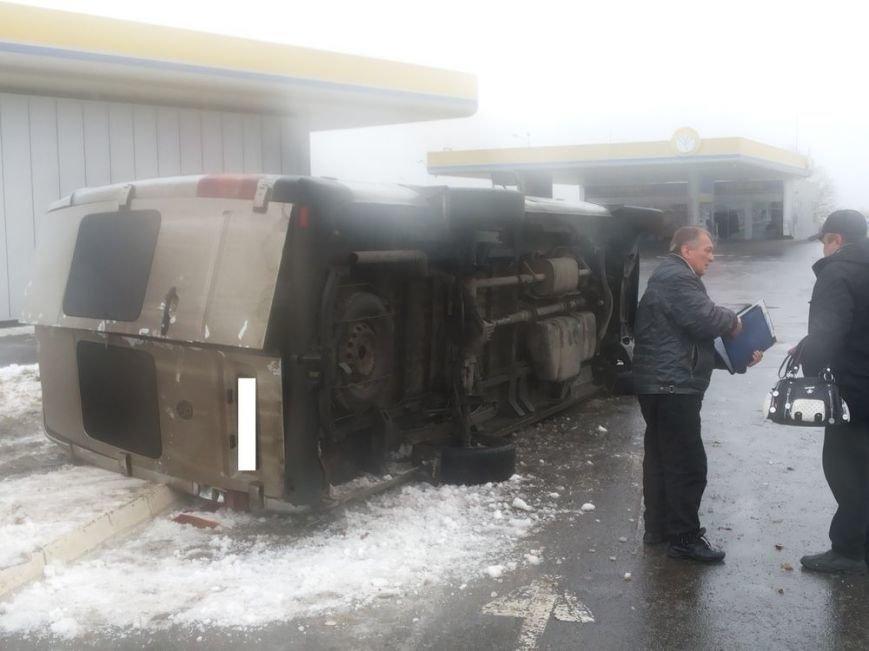 На Харьковщине перевернулся пассажирский микроавтобус (ФОТО), фото-1