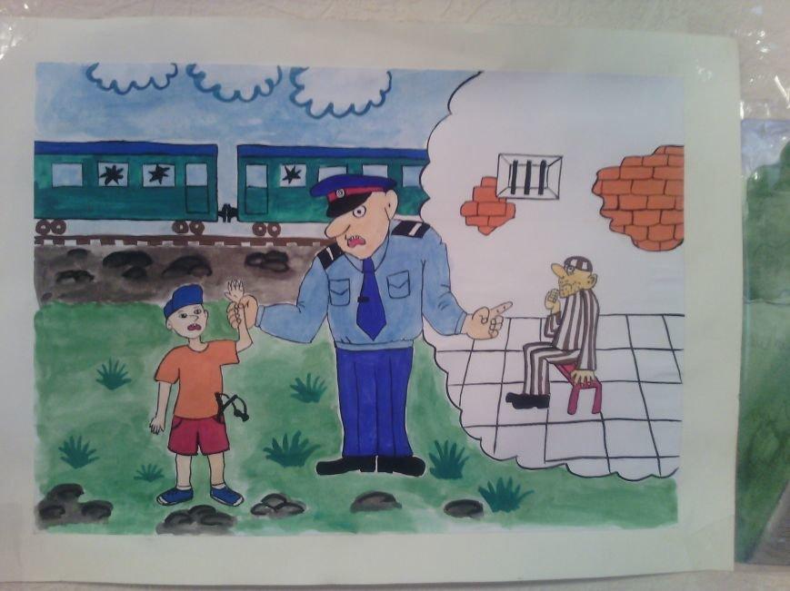 В милиции Днепродзержинска состоялся конкурс детских рисунков, фото-1