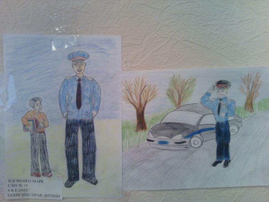 В милиции Днепродзержинска состоялся конкурс детских рисунков, фото-2