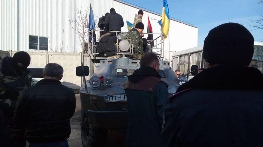 Активисты Евромайдана на броневике штурмуют фитосанитарную инспекцию Одесской области (ФОТО), фото-13
