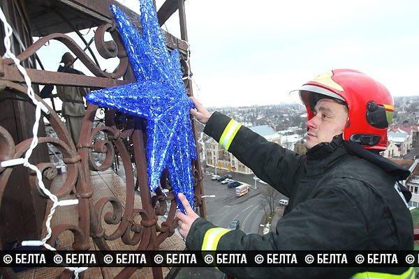 Гродненскую пожарную каланчу превратят в новогоднюю елку (Фото), фото-2