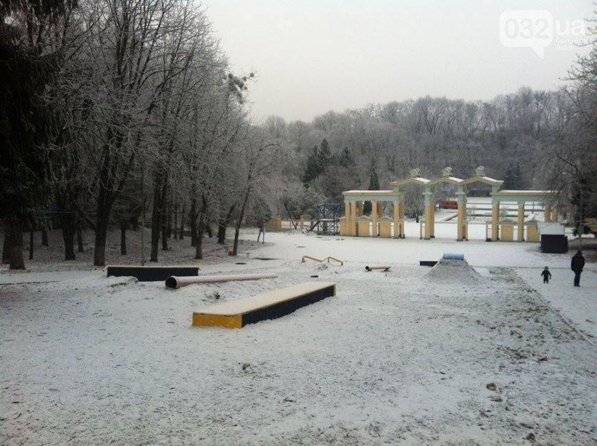 Попри відсутність снігу, львів'ян запрошують покататися на санчатах та лижах у Парку культури (фото) - фото 2