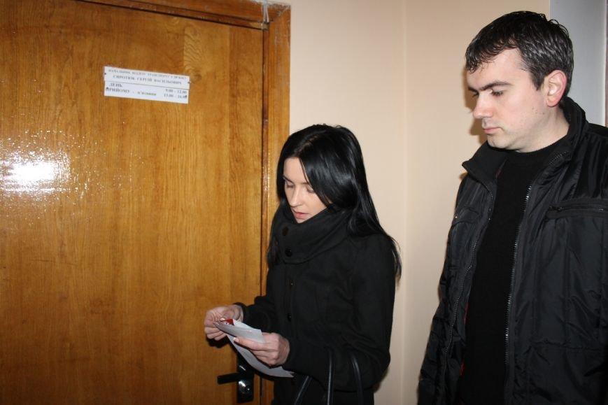 Активисты опечатали двери чиновников криворожского горисполкома наклейками «Стоп коррупционер» (ФОТО), фото-4
