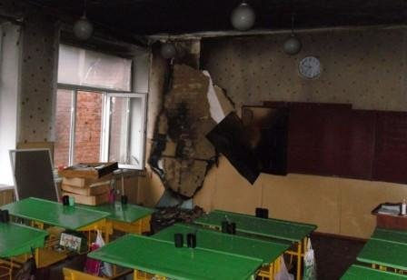 Под Полтавой горела школа: дети эвакуированы (фото) - фото 1
