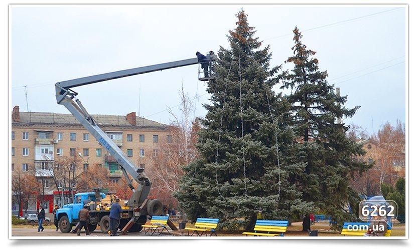 Завтра открытие Новогодней ёлки в Славянске. (фото) - фото 1