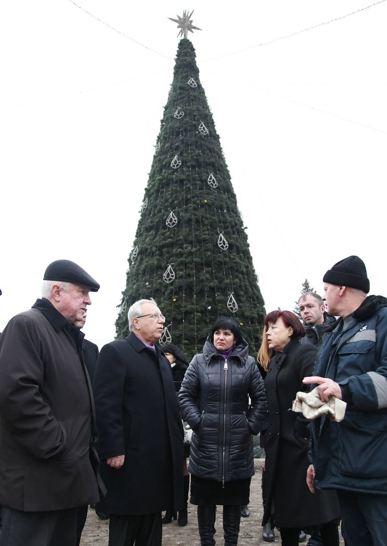После отпуска мэр Кривого Рога Юрий Вилкул сразу проверил, как идут работы в елочном городке на новом месте (ФОТО), фото-5