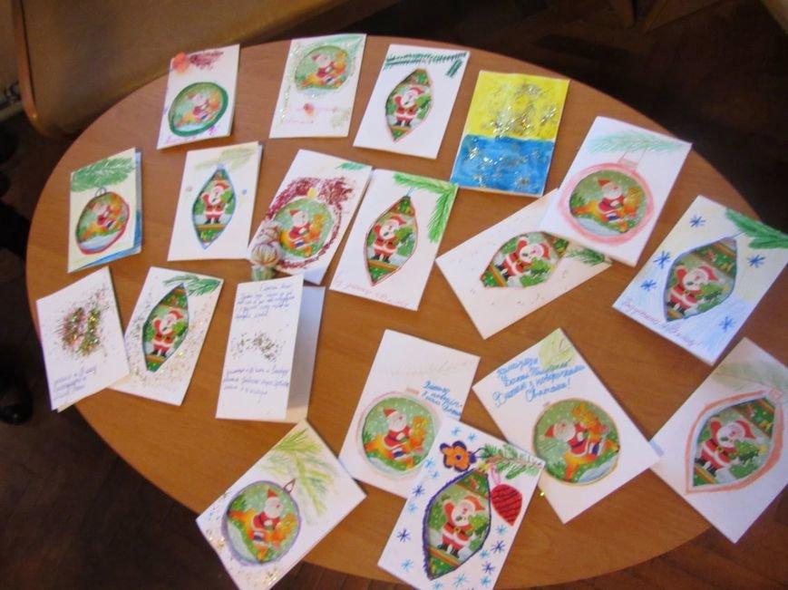 В Днепродзержинске детей учили делать новогодние поздравительные открытки для воинов АТО (фото) - фото 2
