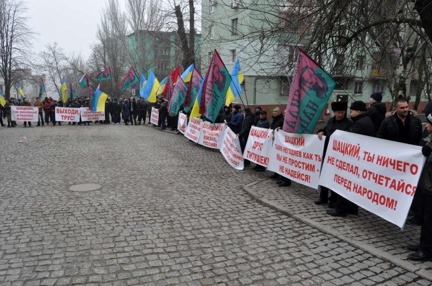 В Запорожье прокуратуру пикетирует бывший Правый сектор (фото) - фото 2