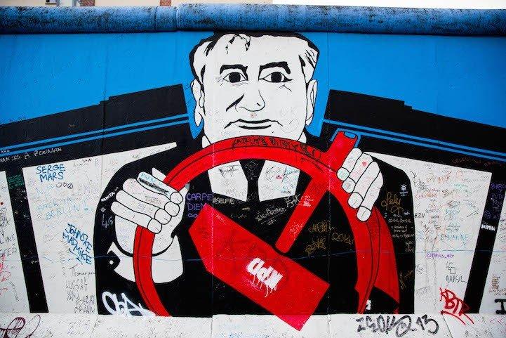Рисунки на Берлинской стене (фото) (фото) - фото 5