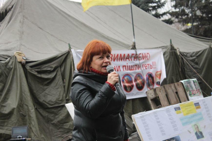 Организаторы акции протеста под горисполкомом призвали заменить чиновников-коррупционеров на своих людей (ФОТО), фото-5
