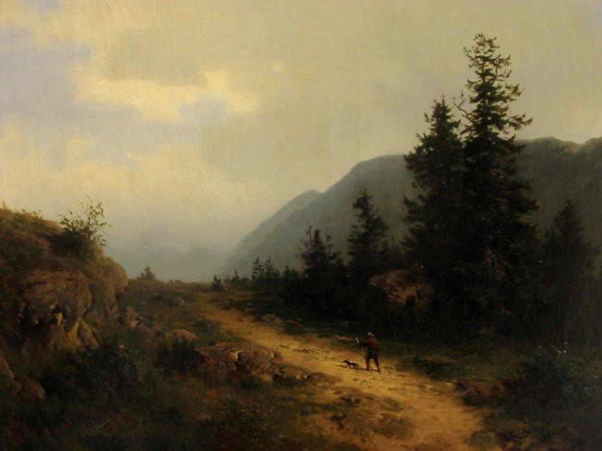 Генріх Людвіг Фріш. Пейзаж у Гарці. 1870-ті рр. п., о., 78,5х104.5