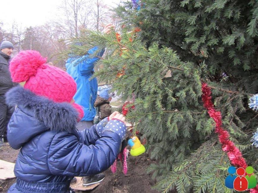 Маленькие криворожане украсили новогодними игрушками парк Правды (ФОТО), фото-16