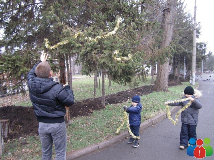 Маленькие криворожане украсили новогодними игрушками парк Правды (ФОТО), фото-8