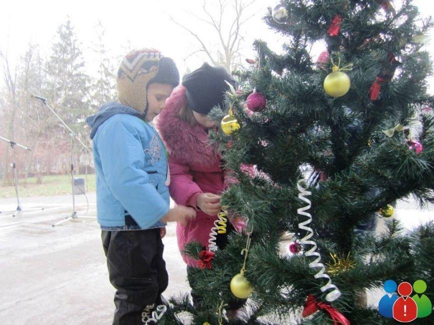 Маленькие криворожане украсили новогодними игрушками парк Правды (ФОТО), фото-11