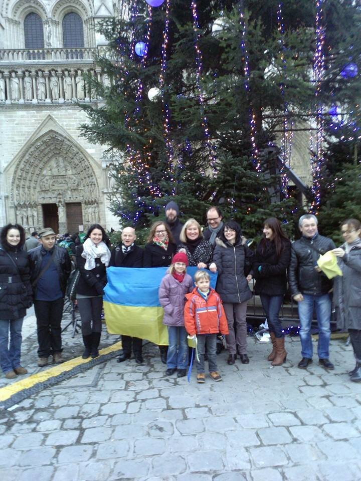 Украинцы в Париже почтили память погибших бойцов батальона «Кривбасс» (ФОТО), фото-4