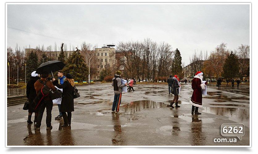 Студенты Славянска протестуют против отмены стипендий (фотофакт). (фото) - фото 2