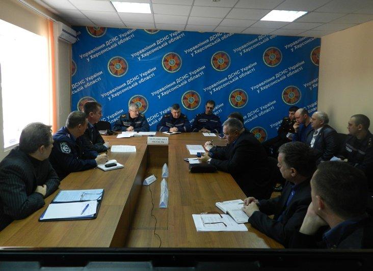 Херсонская область: в ГУ ДСНС обсудили готовность к ликвидации чрезвычайных ситуаций зимнего периода (фото) - фото 1