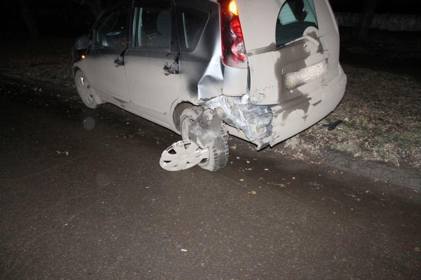 ДТП в Кривом Роге: в темноте «Дэу Ланос»  влетел в припаркованный «Ниссан» через секунду после того, как из машины вышел водитель (ФОТО), фото-8