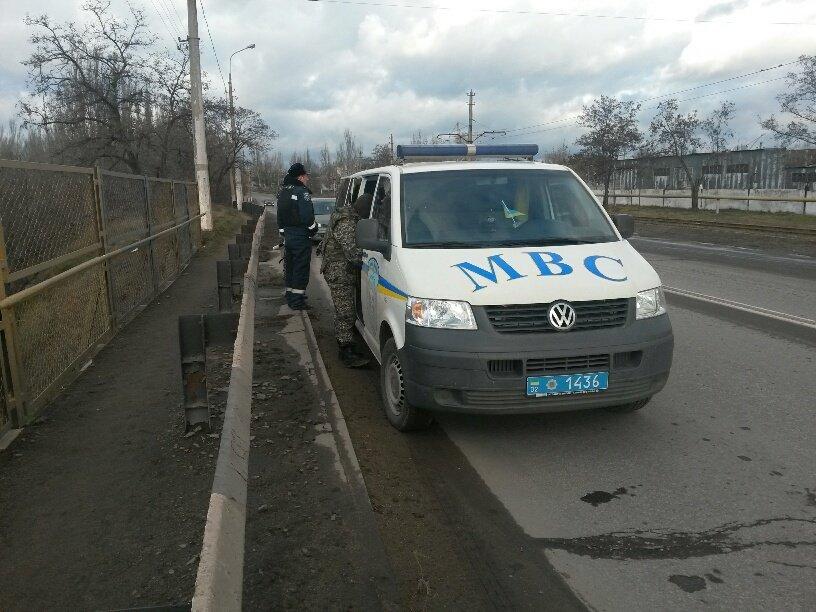 В Мариуполе «заминировали» мост на ул. Карпова  (ФОТО+ДОПОЛНЕНО), фото-1
