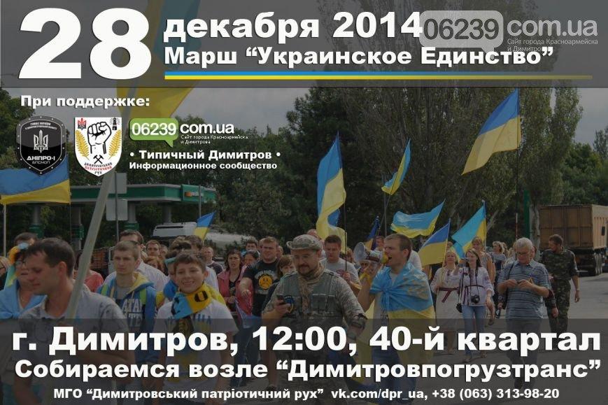 28 декабря в Димитрове состоится Марш «Украинское Единство». Патриоты хотят лишить Януковича звания «Почетный гражданин» (фото) - фото 1
