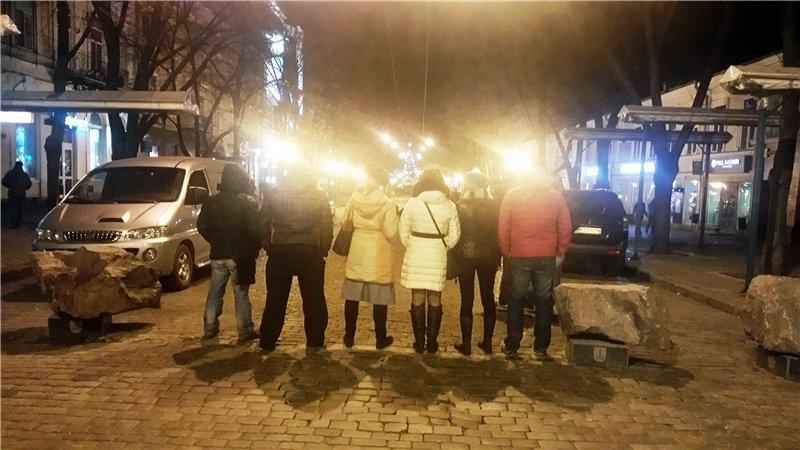 На Дерибасовской женщина-водитель таранила пешеходов (ФОТО) (фото) - фото 1