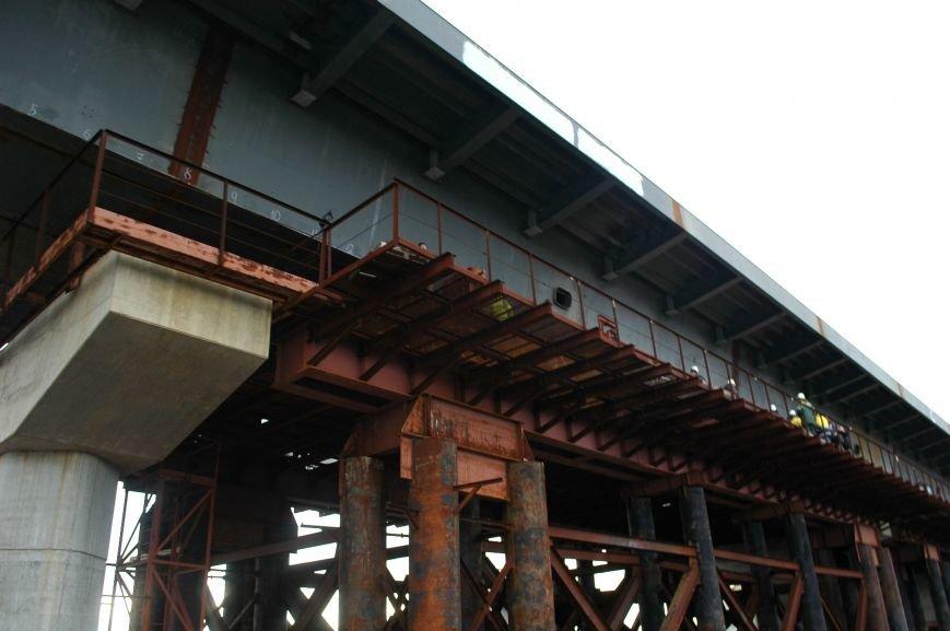 ФОТОРЕПОРТАЖ: Запорожские мосты дотянулись до середины Старого Днепра (ВИДЕО), фото-15