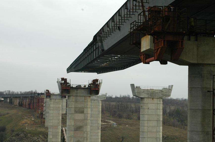 ФОТОРЕПОРТАЖ: Запорожские мосты дотянулись до середины Старого Днепра (ВИДЕО), фото-14