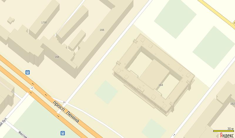 ФОТОФАКТ: Яндекс сделал карту Запорожья с объемными зданиями, фото-1