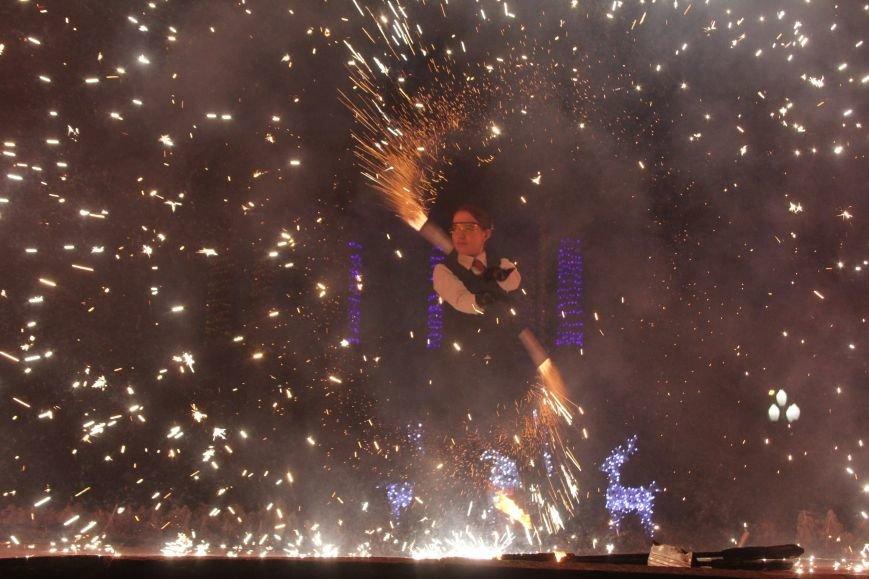 В Днепропетровске в парке Шевченко елка откыралась фаер-шоу (фото) - фото 3