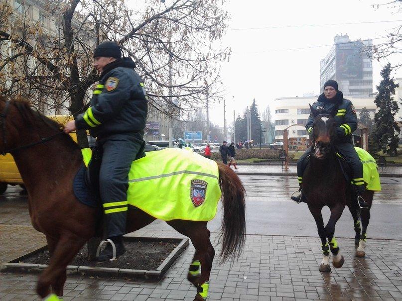В Донецке нашлись милицейские кони - теперь они «служат в »полиции  ДНР