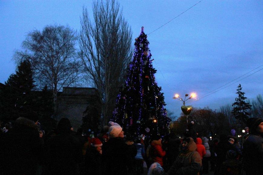 В Красноармейске на площади им. Шибанкова состоялось открытие главной новогодней елки города (фото) - фото 1