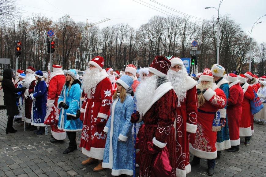 По харьковским улицам прошли полтысячи Дедов Морозов (ФОТО+ВИДЕО), фото-1