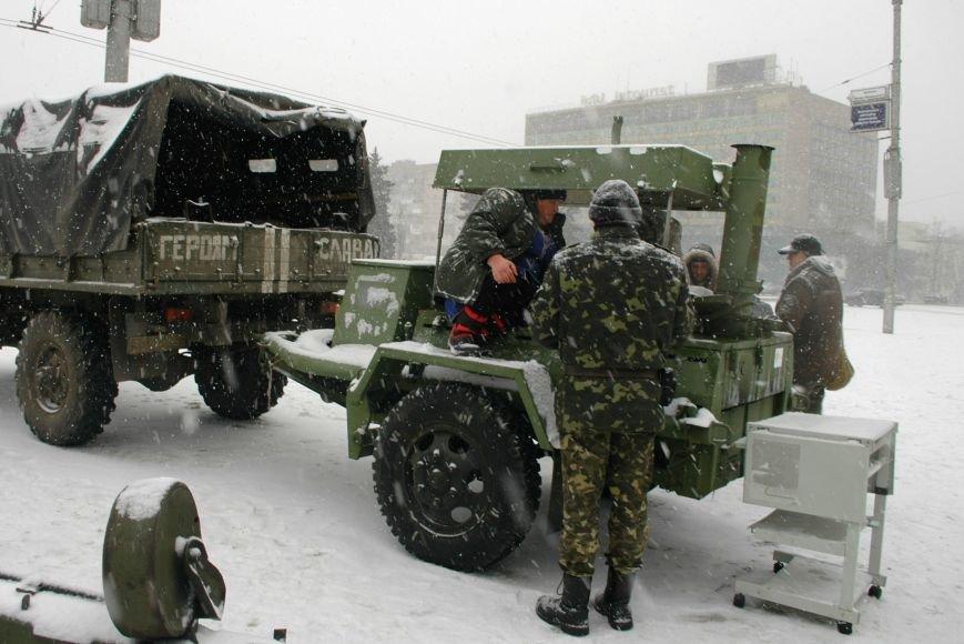 ФОТОРЕПОРТАЖ: В Запорожье артиллеристы показали военную технику, «воевавшую» в зоне АТО (ВИДЕО), фото-7