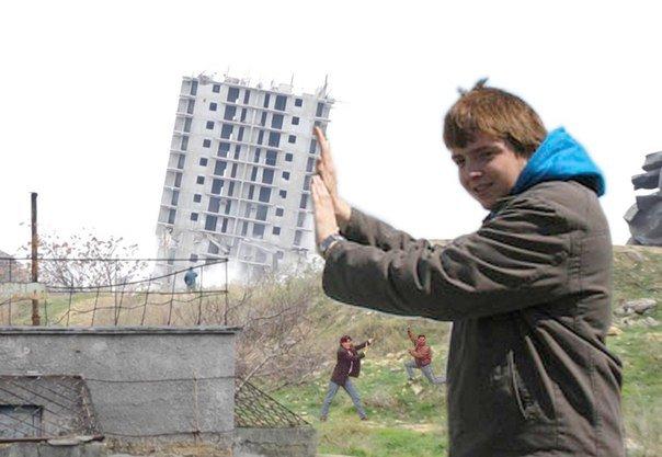 ВИДЕОФАКТ: С третьего раза в Севастополе взорвали дом (фото) - фото 1