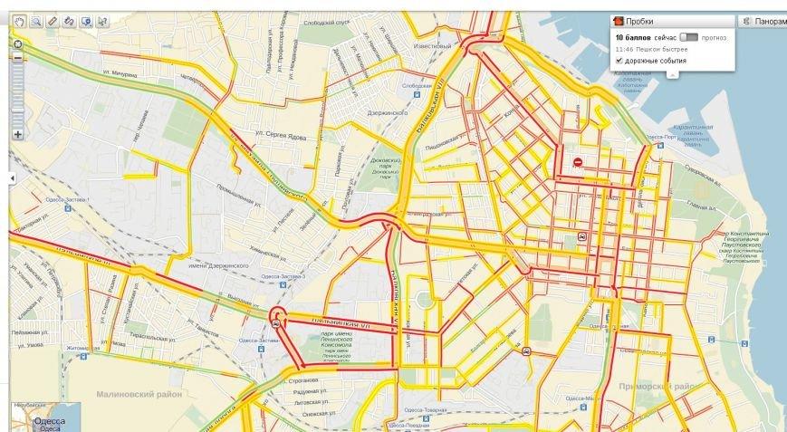 В Одессе зафиксировали рекордную автомобильную пробку (ФОТО, ВИДЕО) (фото) - фото 1