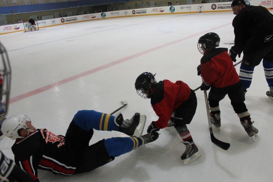 Семилетние криворожские хоккеисты уверенно переиграли команду отцов (ФОТО), фото-2
