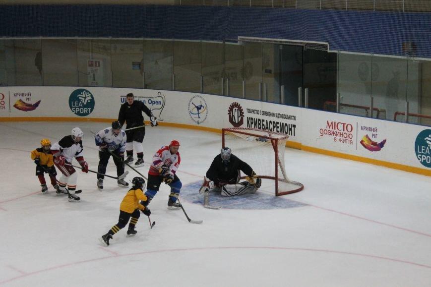 Семилетние криворожские хоккеисты уверенно переиграли команду отцов (ФОТО), фото-15